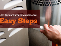 how to do regular furnace maintenance