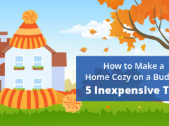 how to make a home cozy on a budget